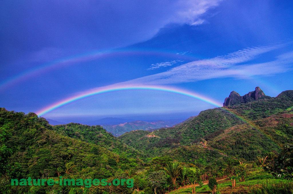 Double rainbow Picacho Altos del Maria Panama